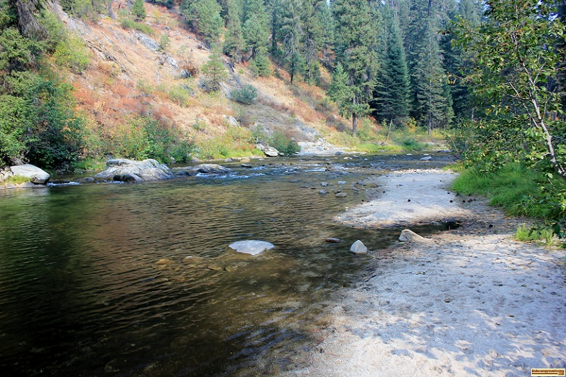 Trail Creek Campground on the Middle Fork of the Payette River