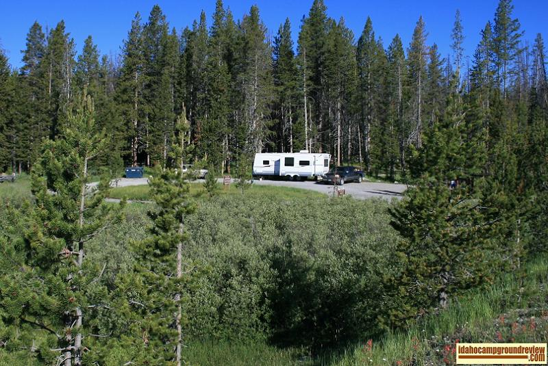 This is a view of Trap Creek Campground.