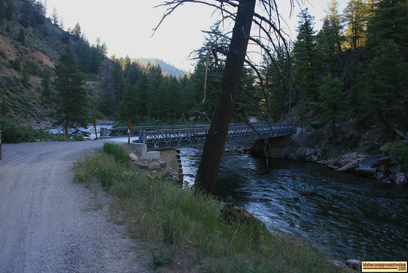 You have to cross this bridge to get into Upper or Lower O'Brien Campground on the Salmon River NE of Stanley, Idaho.