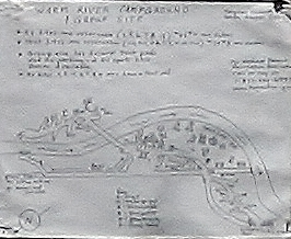 A picture of the campground map for Warm River Campground in Idaho