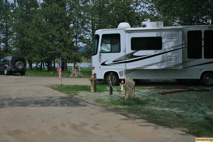 A picture of the Host's campsite in West Mountain Campground