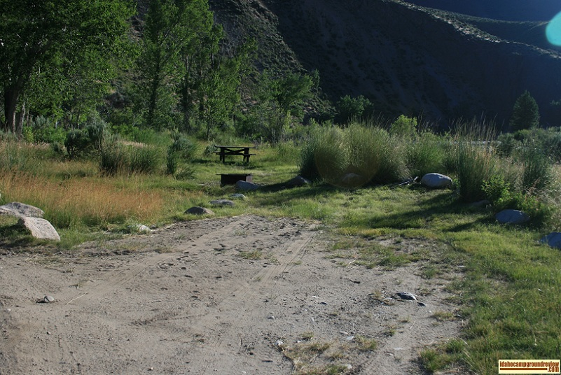One of four camp sites in Whiskey Flats Campground.