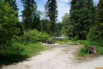 This is a typical camp site in White Sands Campground
