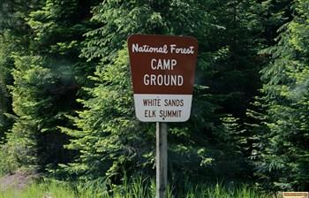 Watch for this sign to White Sands Campground