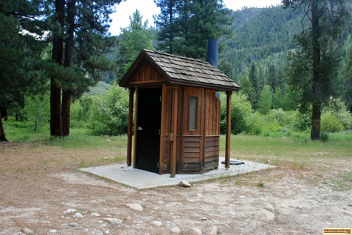 This is the outhouse at Willow Creek Campground in the Sawtooth National Forest.