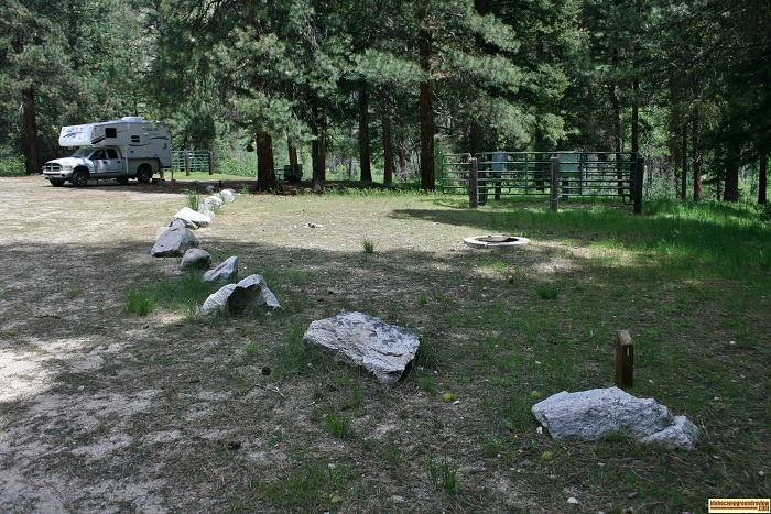 Willow Creek Transfer Camp campsite 1