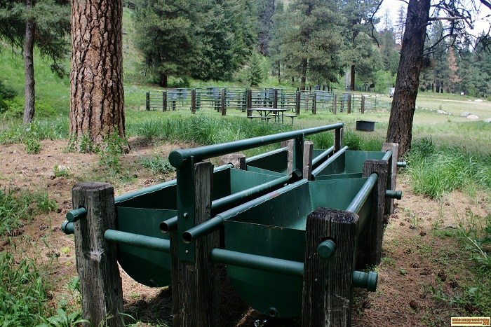 Willow Creek Transfer Camp corrals and feed bunks