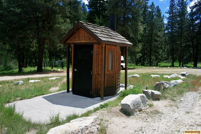 Willow Creek Transfer Camp outhouse