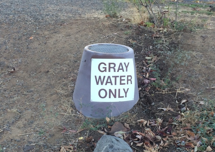 A picture showing a gray water disposal in Woodhead Park.