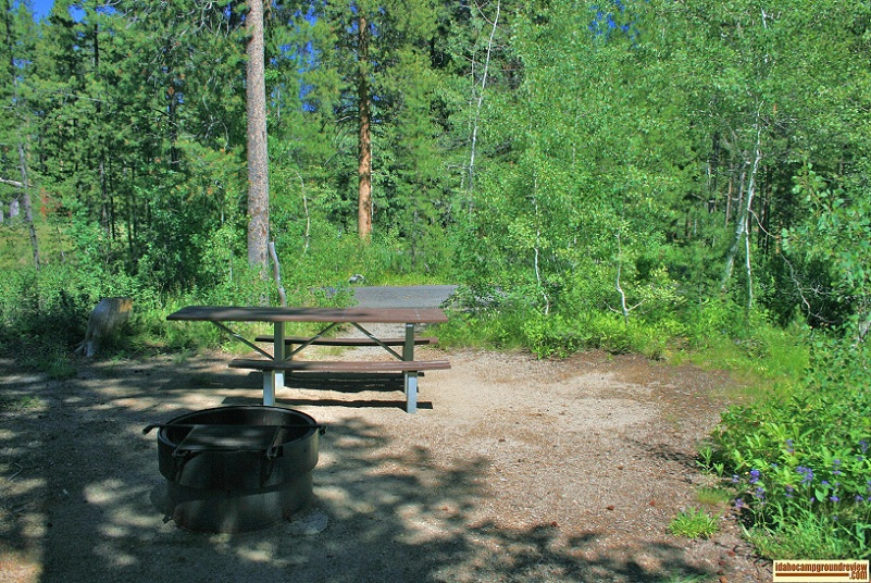 another RV camping site in Wood  River Campground.