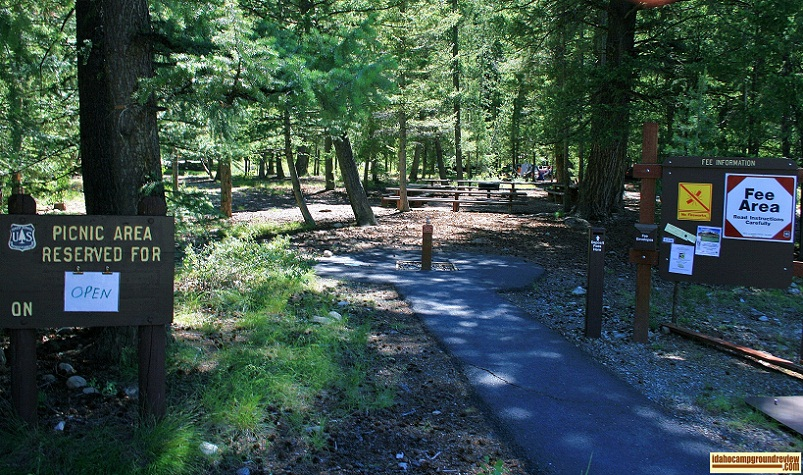 Wood River Campground has a fairly large picnic area which you can reserve for your party.