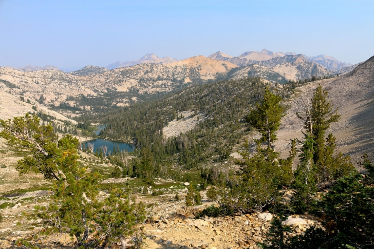 Hiking to Toxaway Lake from the Tin Cup Hikers Trailhead in the Sawtooth Mountains of Idaho.