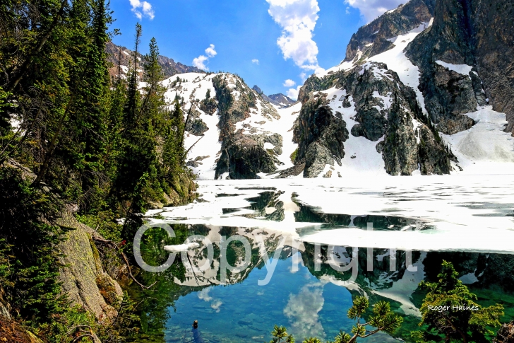 A picture of Goat Lake on canvas.