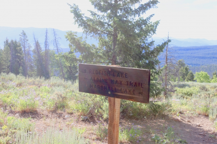 The Alpine Way trail sign