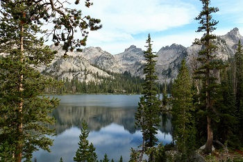 Alice Lake in the Sawtooth Mountains of Idaho