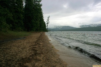The Beach at Reeder Bay on Priest Lake.