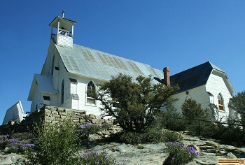 Historic church in Silver City, Idaho