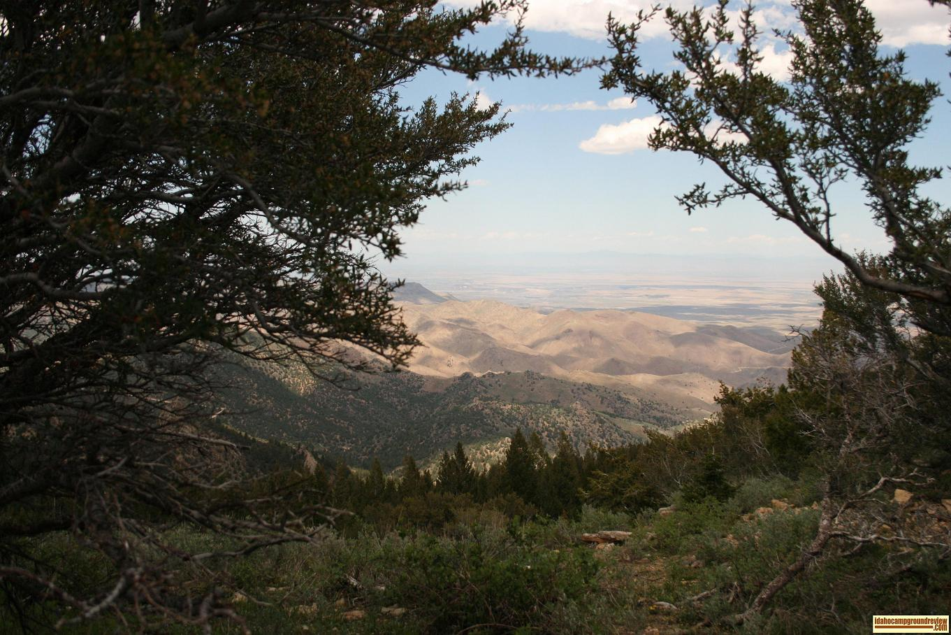 view of the Treasure Valley from War Eagle Peak